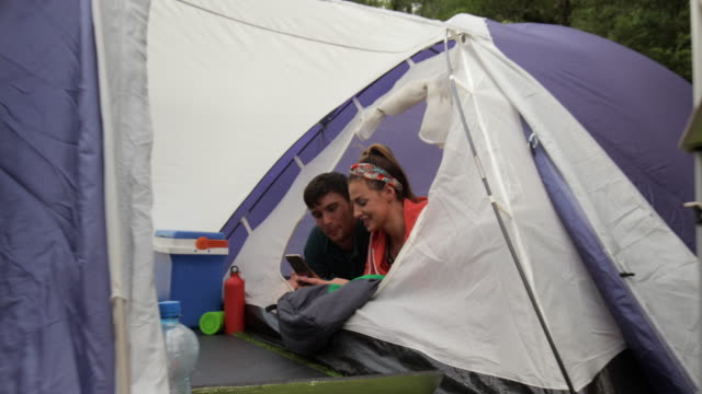 couple in their tent - girlfriend stock videos & royalty-free footage