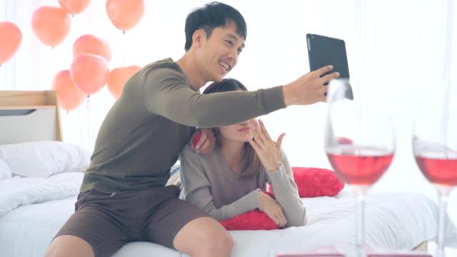 バレンタインデーのカップル - 結婚指輪点の映像素材/bロール
