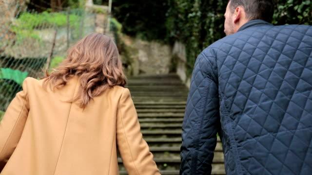 Couple in walk
