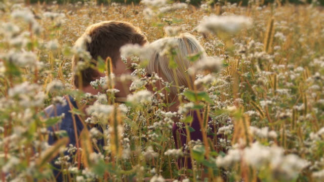HD: Couple Kissing In Grass
