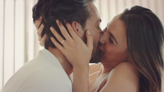 couple kissing - kissing stock videos & royalty-free footage