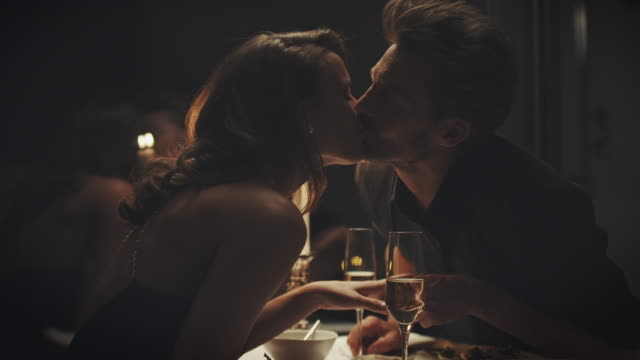 couple kissing - candlelight stock videos and b-roll footage