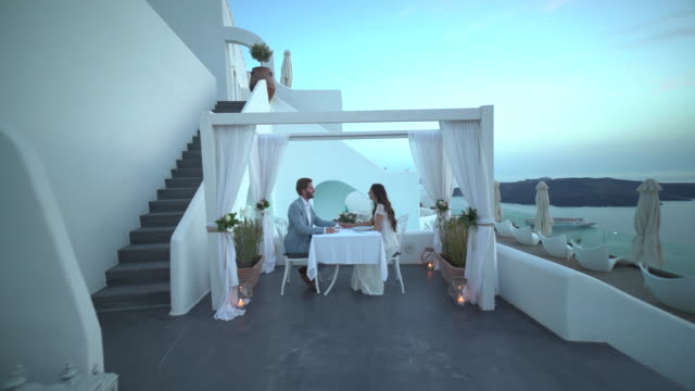 couple luxury dinner for two terrace