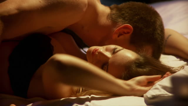 hd dolly: couple making love - bedroom stock videos & royalty-free footage