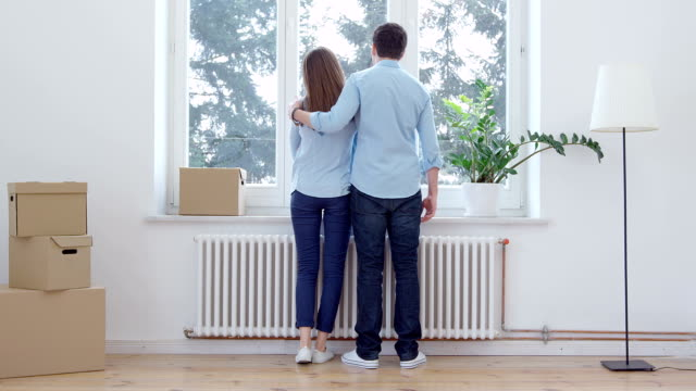 couple moving house - moving house stock videos and b-roll footage