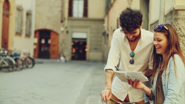 Coppia di turisti a Firenze, Italia