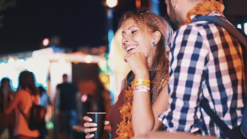 couple on a date at a club. - flirting stock videos & royalty-free footage