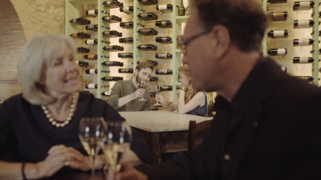 couple on a date in wine bar - wine bar stock videos & royalty-free footage