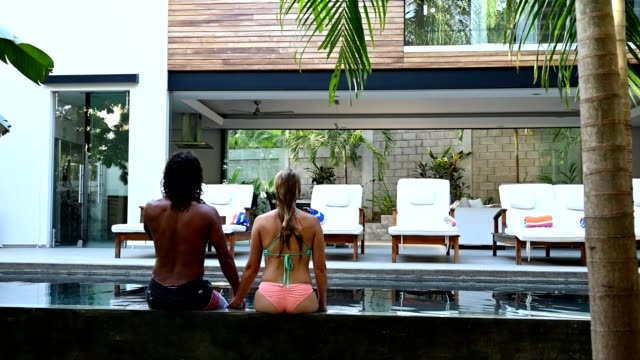 couple on a luxurious vacation at a high end home - upper class stock videos & royalty-free footage