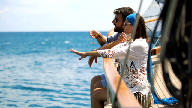 couple on a sailboat. - cruise stock videos & royalty-free footage