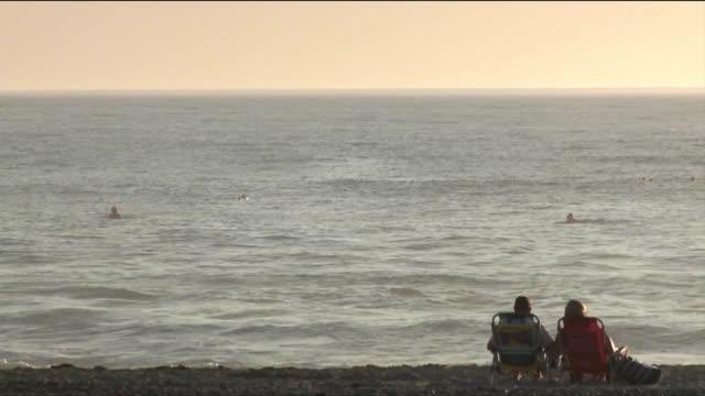 A Couple on Beach Chairs at a San Diego Beach