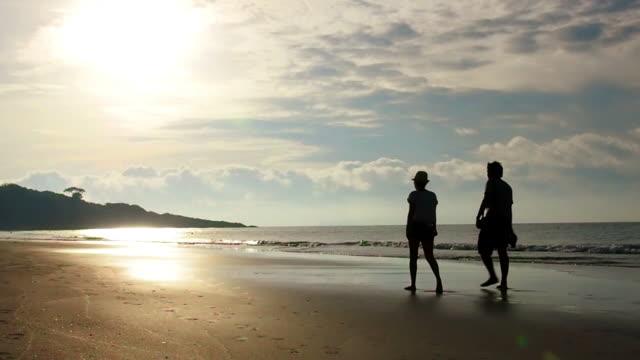 couple on beach - coastline stock videos & royalty-free footage