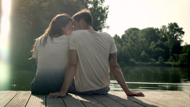 couple on landing stage - floating moored platform stock videos & royalty-free footage
