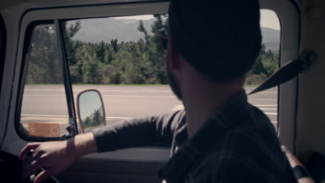 couple on road trip - van vehicle stock videos & royalty-free footage