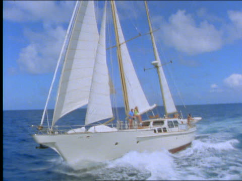 couple on sailboat on ocean - cinematography stock videos & royalty-free footage