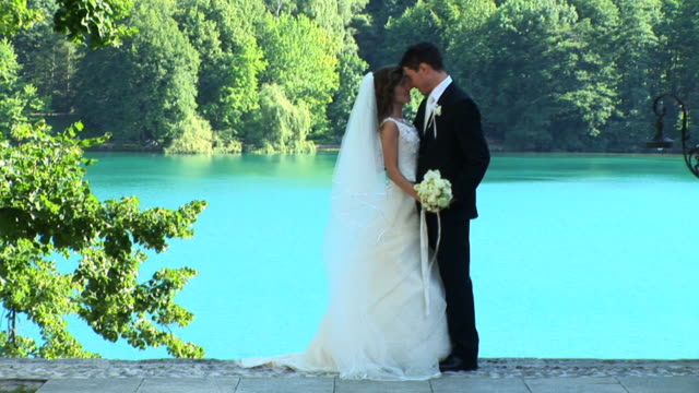 hd: couple on their wedding day - groom stock videos and b-roll footage