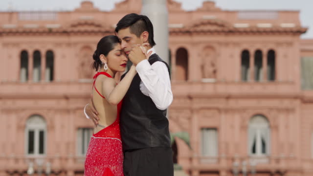 couple performing tango - tangoing stock videos & royalty-free footage