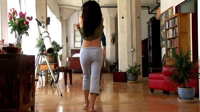 couple playing at home - undressing stock videos & royalty-free footage
