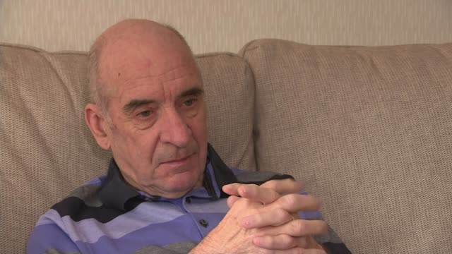 couple 'remarry' after husband with dementia forgot first wedding; scotland: aberdeen: int various shots of bill duncan sitting with wife anne duncan... - dementia stock videos & royalty-free footage