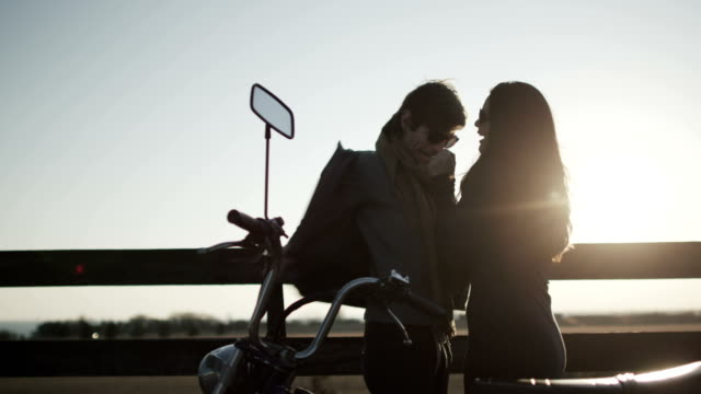 couple riding motor bike - moped stock videos and b-roll footage
