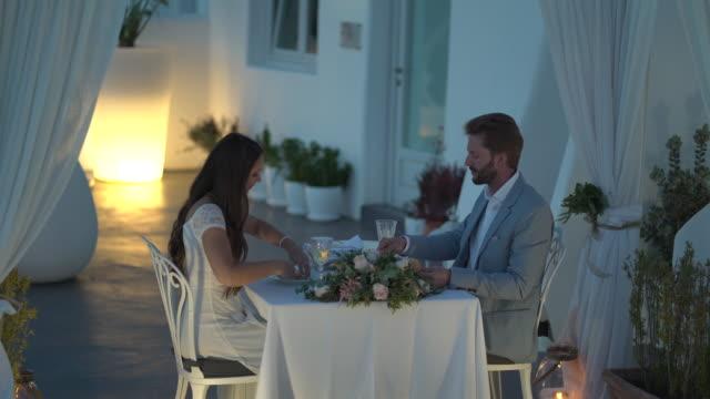 couple romantic dinner