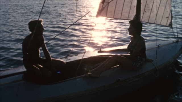 a couple sails on the ocean in bermuda. - bermuda stock videos & royalty-free footage