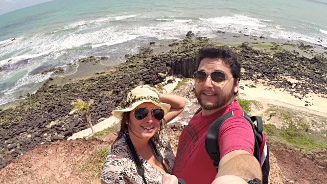 couple selfie beach paradise - self love stock videos & royalty-free footage