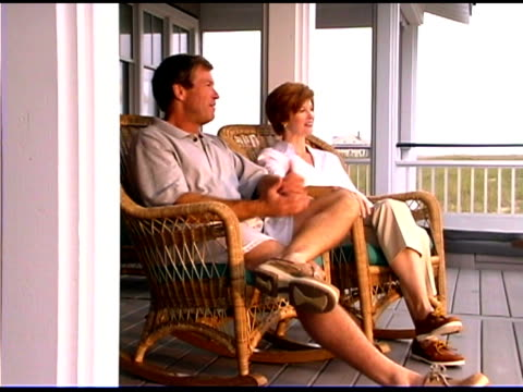 couple sitting on patio - see other clips from this shoot 1335 stock videos and b-roll footage