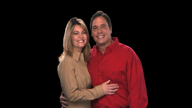 couple smiling - this clip has an embedded alpha-channel - keyable stock videos & royalty-free footage
