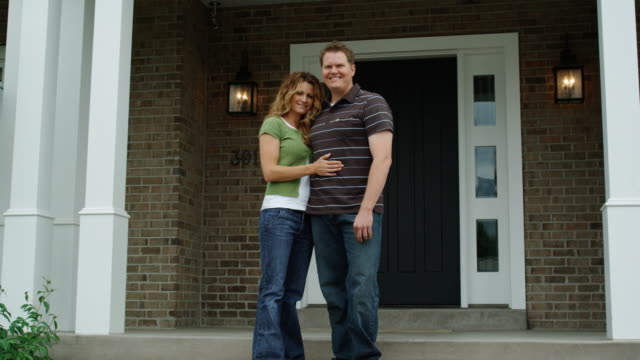 couple standing on the front porch - see other clips from this shoot 1420 stock videos and b-roll footage