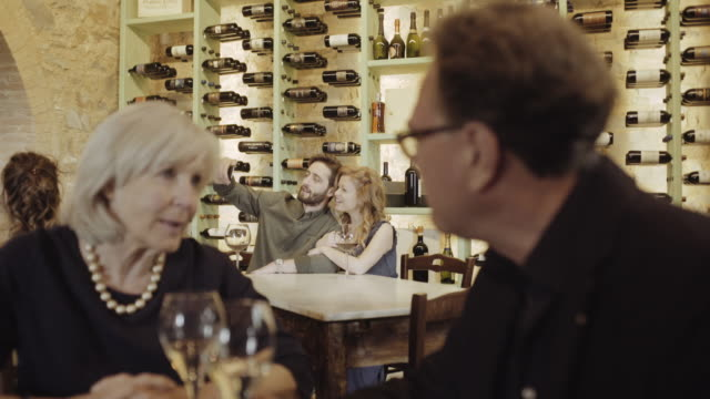 couple taking selfie in a wine bar - wine bar stock videos & royalty-free footage