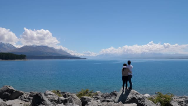 Couple taking view at Mt Cook