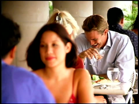 couple talking at restaurant - puerto rican ethnicity stock videos & royalty-free footage