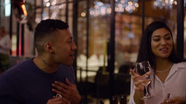 couple talking over dinner. - auckland stock videos & royalty-free footage