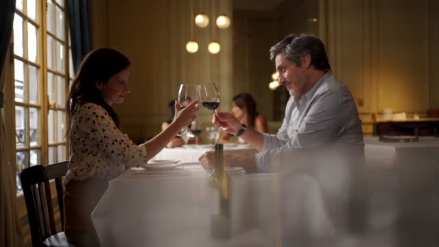 couple toasting to their love - restaurant stock videos & royalty-free footage