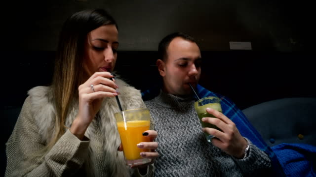 couple trying new tastes - straw stock videos & royalty-free footage