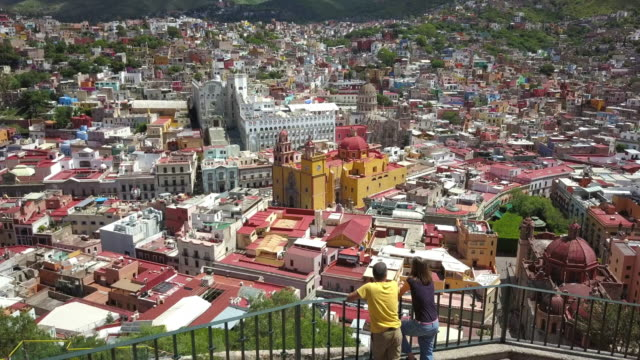 couple visiting guanajuato mexico - mexico stock videos and b-roll footage