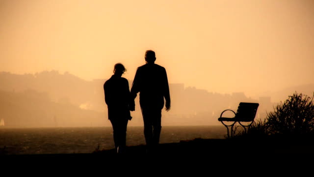 stockvideo's en b-roll-footage met couple walk v.4 (hd) - bank zitmeubels