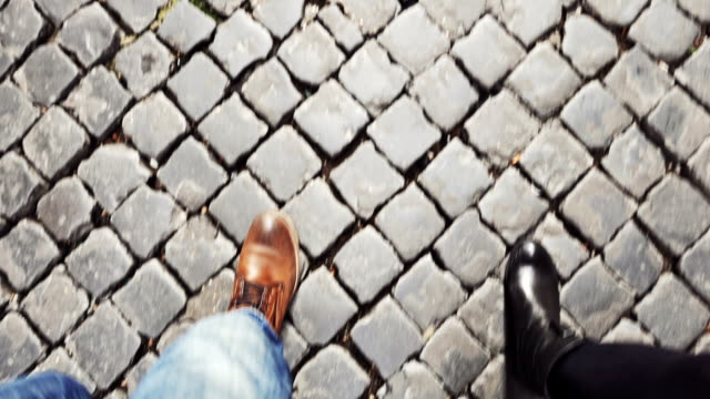 Couple walking in Rome