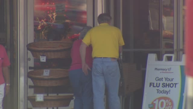Couple Walking Into Grocery Store on October 10 2013 in Chicago Illinois