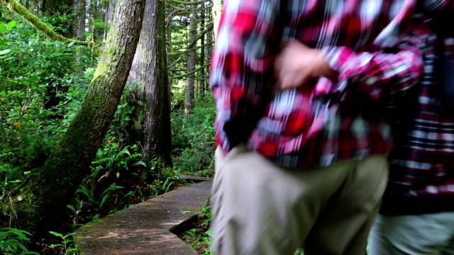 Couple Walking Pacific Rim National Park Reserve Vancouver Island