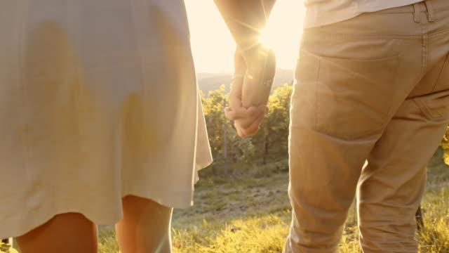 couple walking through the vineyard - prekmurje stock videos & royalty-free footage