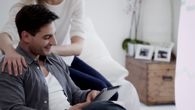 Couple with tablet pc