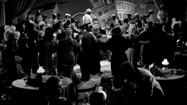 couples dance and dine in a hotel in 1941. - dancing back to back stock videos & royalty-free footage