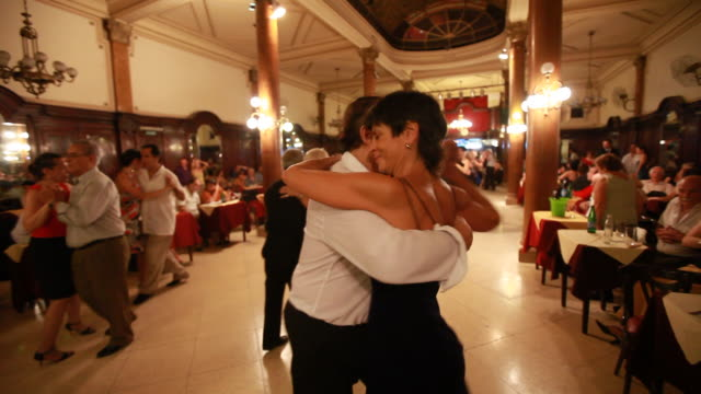 couples dance the tango in buenos aires - tango dance stock videos and b-roll footage