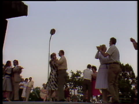 couples dance together to live orchestra during soviet summer holiday yalta - couple relationship stock videos & royalty-free footage