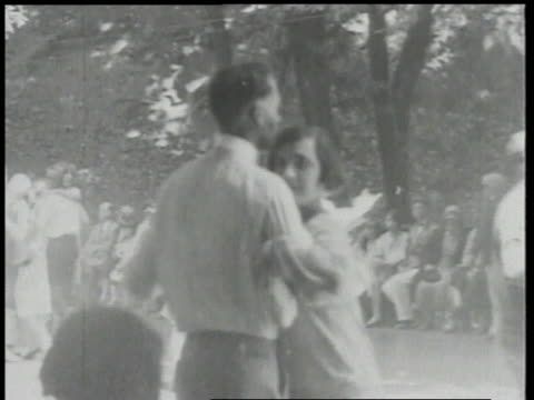 1924 montage couples dancing / detroit, michigan, united states - 1924 stock videos & royalty-free footage