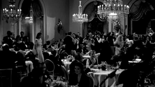 couples dine and dance in an elegant nightclub. - 1941 stock videos & royalty-free footage