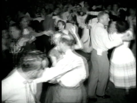 couples enjoy a square dance - traditional ceremony stock videos & royalty-free footage