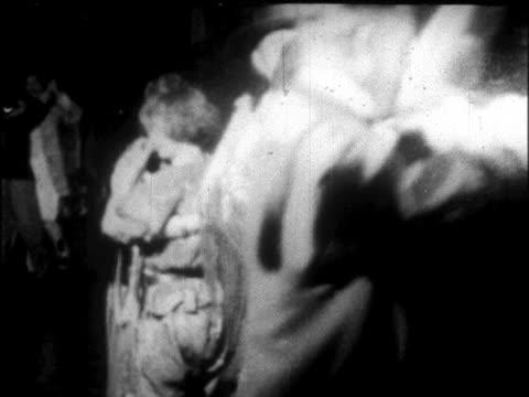 vídeos y material grabado en eventos de stock de b/w 1926 couples in costumes dancing in ballroom on cruise ship / newsreel - 1926